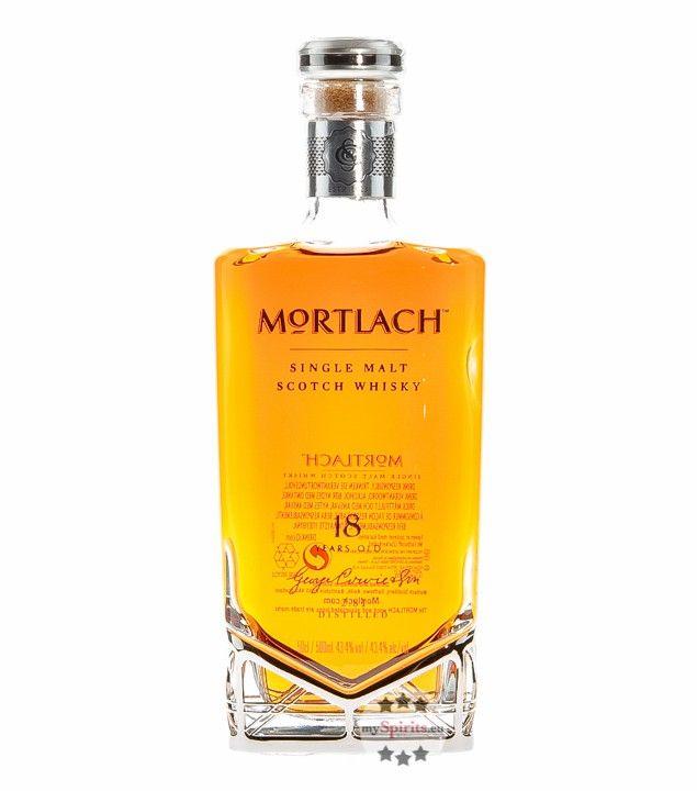 Speyside Single Malt Scotch Whisky, 43,4 % vol.18 Jahre andalusischen Sherry-Fässern und ex Bourbon-Fässern gereiftAus der ältesten Brennerei in Dufftown: Mortlach existiert seit 18232.81 distilled: Mortlach Whisky entsteht in einem einzigartigen BrennverfahrenFruchtig-frisch und kraftvoll, komplex mit raffinierter Würze und Süße hinterlegtSchottisches Erzeugnis aus der Mortlach Distillery in DufftownNoble Schmuckflasche in edel ausgestatteter Geschenk-Kassette