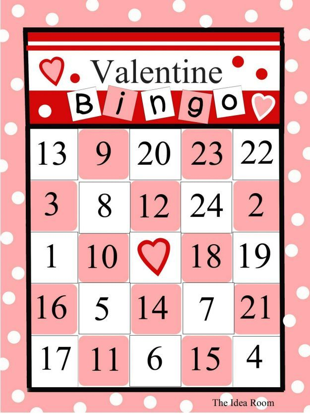 Cute, Printable And Free Valentines Day Bingo Cards For -6016