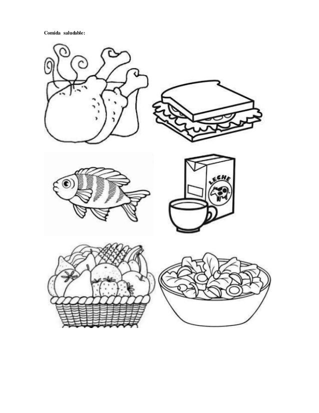 Resultado De Imagen Para Imagenes Para Colorear De Alimentos