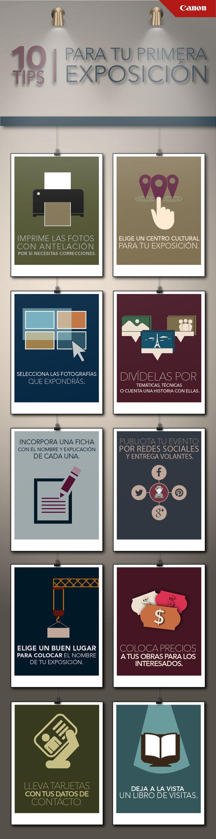 #Infografía #Tips #Exposiciones #Fotografías