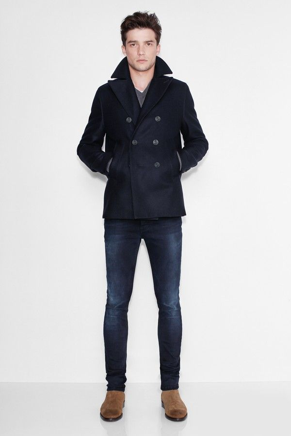 awesome Street style tendance : Mastic Men Peacoat...