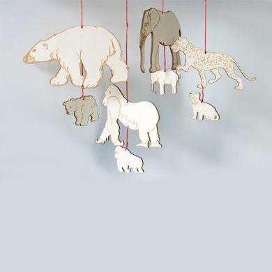 animal mobile by Chromatophobic