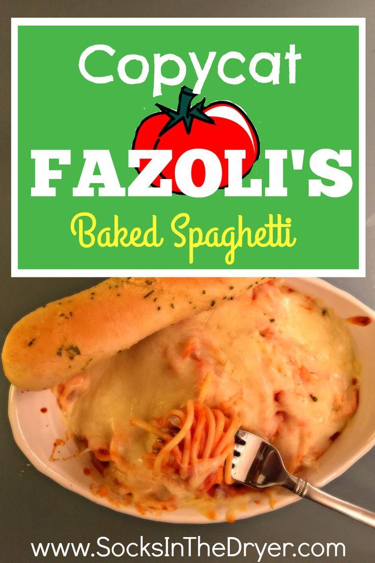 Copycat Fazoli's Baked Spaghetti Recipe. Easy dinner recipe. DIY Fazoli's Baked Spaghetti.