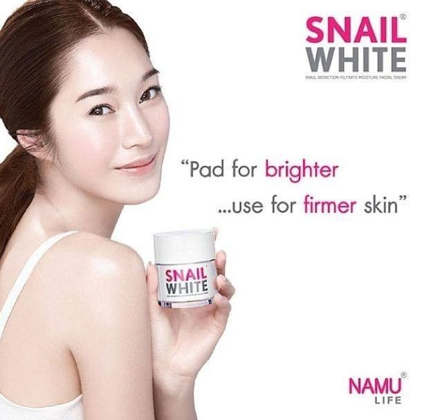 Snail White Cream Whitening and Moisture skin care products top selling in Korea and Thailand.This skin care are woman Secret Weapon.