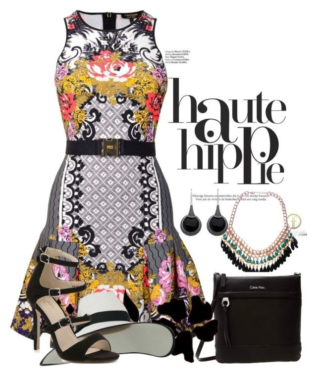 """""""Haute Dress"""" by ann-kelley14 ❤ liked on Polyvore featuring Haute Hippie, Emi Jewellery, Calvin Klein and Juicy Couture"""