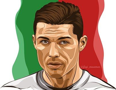 """fan art cristiano ronaldo vector vexel cartoon realistic""  high resolution : http://be.net/gallery/38310443/fan-art-cristiano-ronaldo-cartoon-realistic"