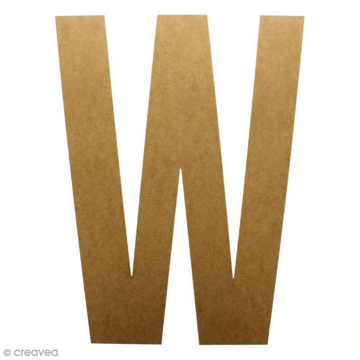Compra nuestros productos a precios mini Letra de madera gigante 50 cm - W - Entrega rápida, gratuita a partir de 89 € !