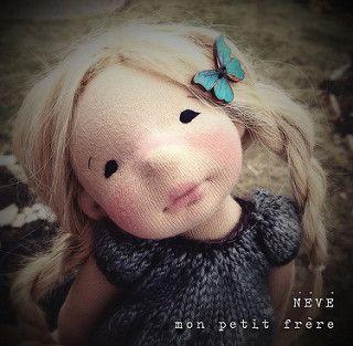 Neve-Natural Fiber Art doll by Mon Petit Frère   Megan McGInnis   Flickr