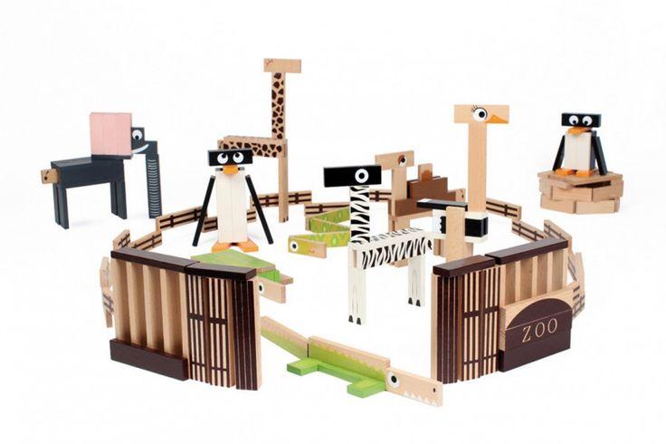 Klocki deseczki House of Toys - Zoo 200 elementów