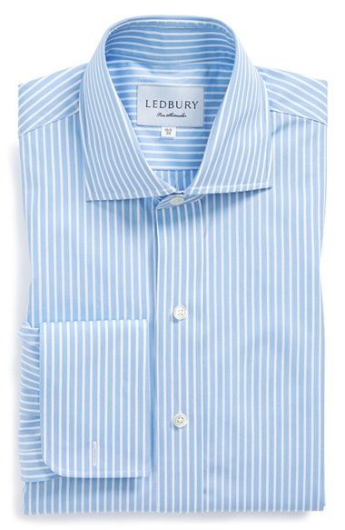 Ledbury Slim Fit Stripe French Cuff Dress Shirt available at #Nordstrom