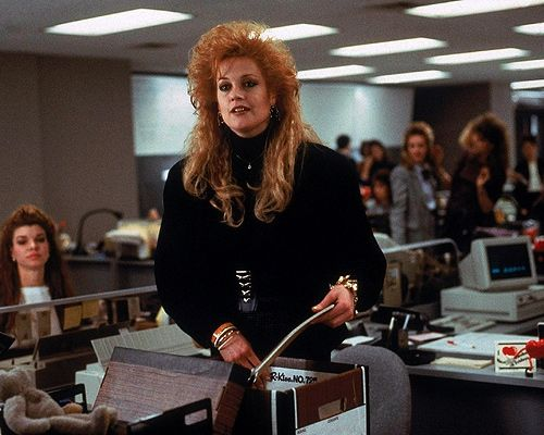 Melanie Griffith| Working Girl (1988). That Hair!!!