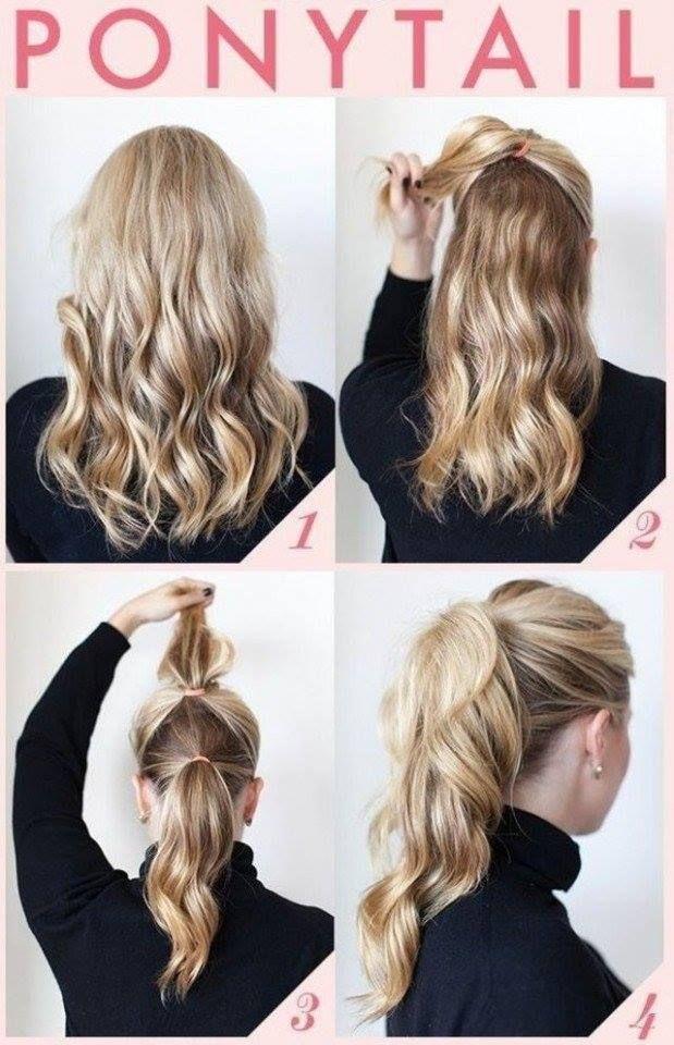Simple But Elegant Ponytail Hairstyle Tutorial Hair Pinterest