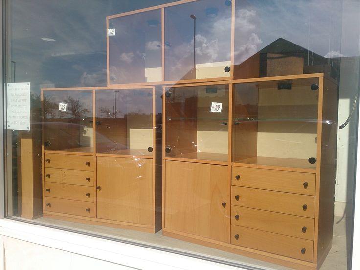Beech Effect Ikea style Display Cabinets £60 each.