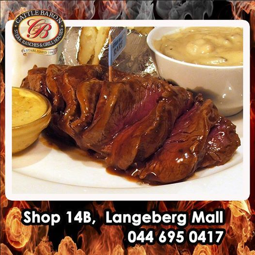 We trust you are enjoying the Easter weekend in Mossel Bay. Cattle Baron will be open the entire weekend for your convenience and invite you to try our signature dish, the Chateau Brand steak. We are also serving our Buffet Lunches during this period so join us for a fantastic meal. #steakhouse #cuisine #buffetlunches