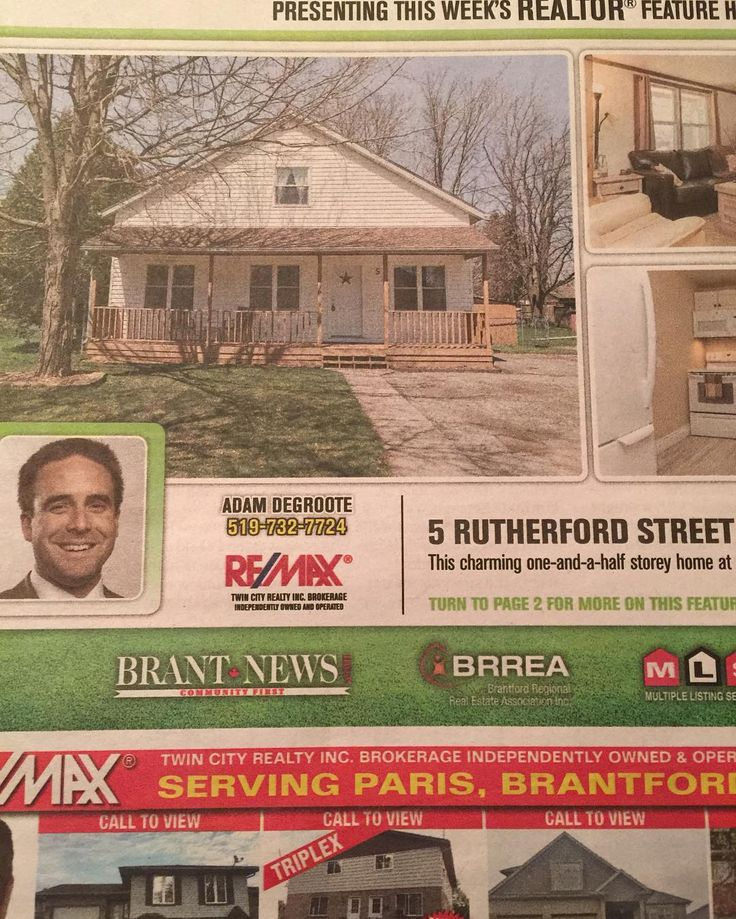 Unwrap that pink plastic covered newspaper at the end of your driveway and check out this weeks' Real Estate Showcase. My beauty listing at 5 Rutherford St Burford is featured! #adamdegroote #realestate #broker #remax #agent #realtor #realty #remaxtwincity #burford #brantcounty #forsale #listing #brantnews by adamdegroote