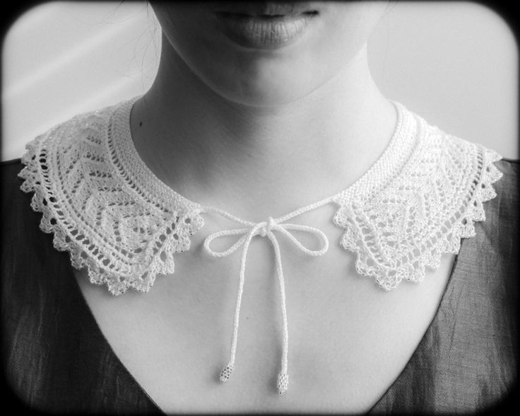 Victorian lace collar, adapted from vintage pattern