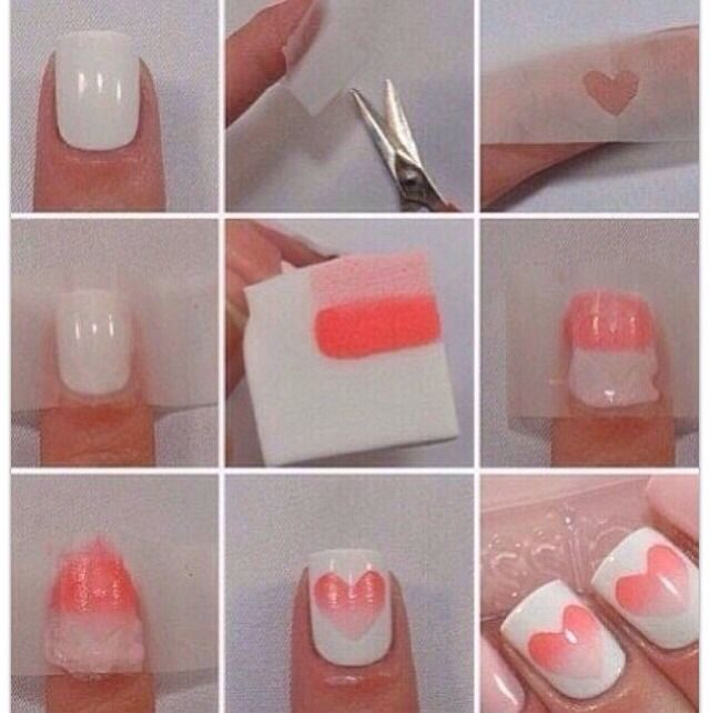 Ombre Heart Nail Art Tutorial | Beauty Lovers