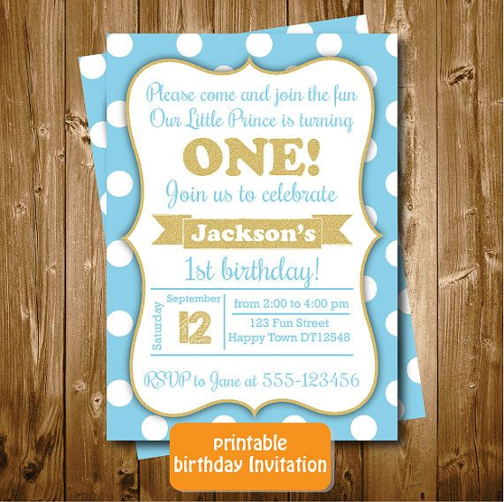 Printable Blue and Gold Boys 1st 2nd 3rd Any by RedRedRoseHandmade