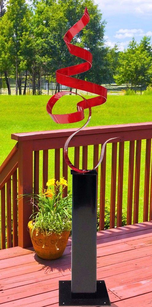 Red Perfect Moment Contemporary Metal Sculpture By Artist Jon Allen |  Sculptures | Large Art |