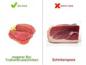 Iss dies, nicht das beim Fleischer | eatsmarter.de Von der Weißwurst bis hin zur Salami – die Auswahl in Deutschland an Wurst- und Fleischwaren ist riesig. Aber: Je größer die Vielfalt, desto leichter verliert man den Überblick, welche der 1500 Wurstsorten hierzulande auch für den Körper gut verträglich und gesund sind. EAT SMARTER zeigt Ihnen, wie Sie mit der richtigen Wahl von Fleisch und Wurst einige Kalorien und Fett sparen können.