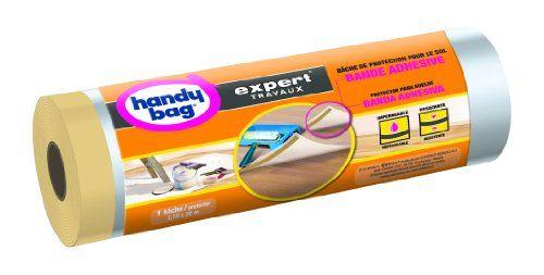 Handy Bag 1 Rouleau de Bâche de Protection Sols, Imperméable, Transparent: Bâche en rouleau pour la protection des sols contre la…