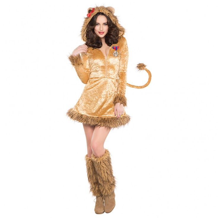 Ladies Fancy Dress Wild Lion Lioness - Wizard of Oz - Lion Costume (UK 8-10)…