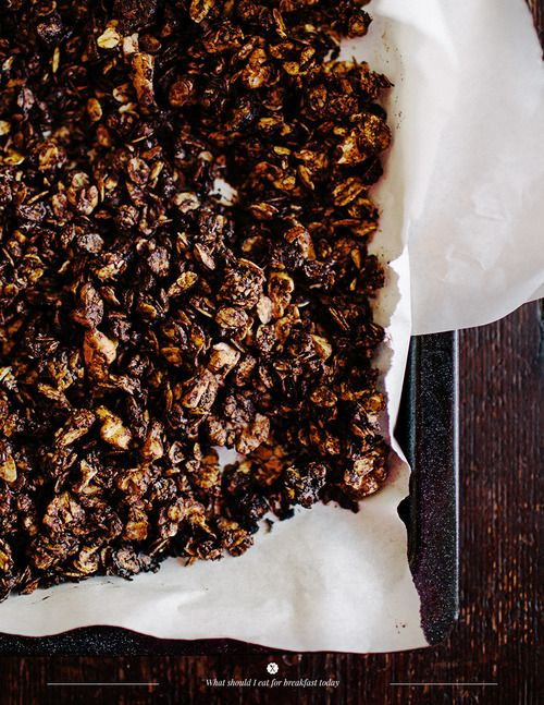 rather not so healty chocolate granola