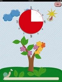 Fun Time Timer - A cute interactive timer for passing time.Once the timer is started, a snail will move across the screen, a clock will countdown by removing the red, and other interactive events will occur.