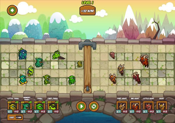 Trolls vs Goats - Puzzle game design on Behance