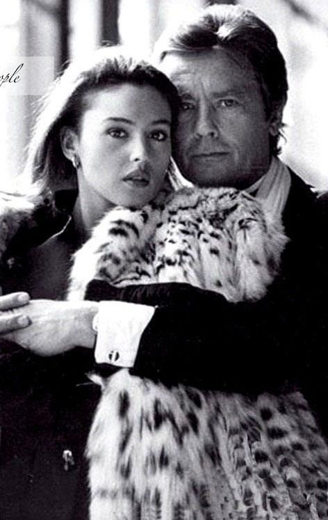 Monica and Alain Delon, from Iryna