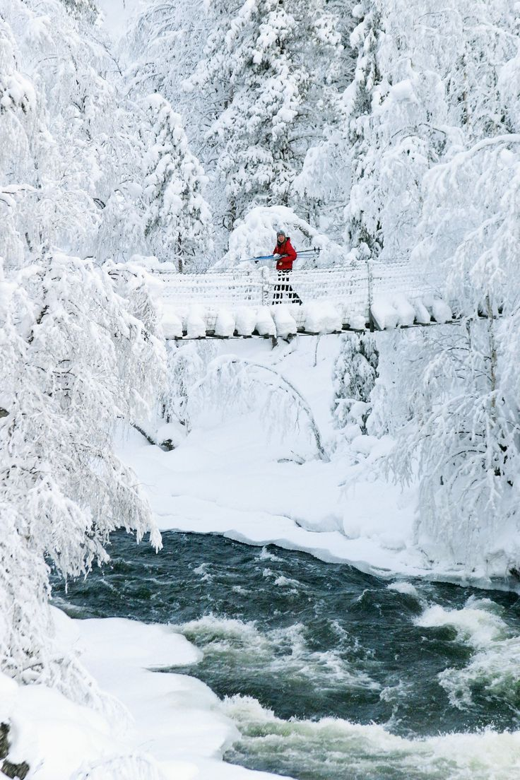 Kuusamo, Finland - It has an abundance of snow due to its proximity to the Arctic Circle.
