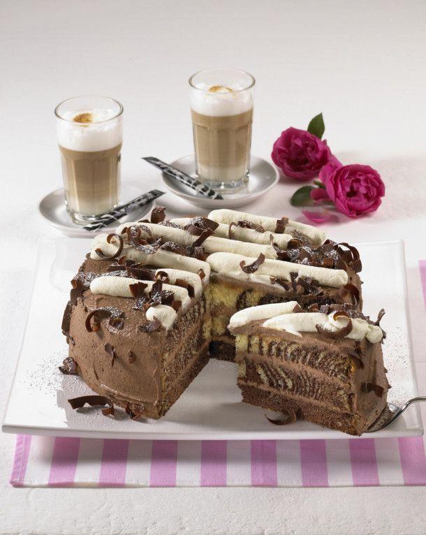 Unser beliebtes Rezept für Gefüllte Zebra-Torte und mehr als 55.000 weitere kostenlose Rezepte auf LECKER.de.