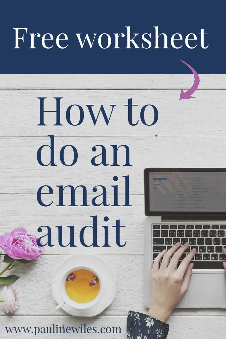 How To Do An Email Audit Pauline Wiles Audit Email Marketing Inspiration Email Marketing Lists