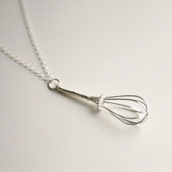 Wire Whisk  Handmade Sterling Necklace by exodesign on Etsy, $42.00