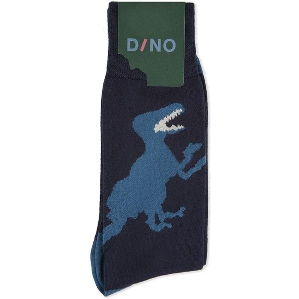 Paul Smith Dinosaur cotton socks ($19) ❤ liked on Polyvore featuring men's fashion, men's clothing and men's socks