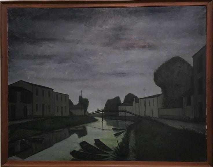 1952_Pont sur un canal_Bâle Stiftung Im Obersteg en dépôt au Kunstmuseum Basel