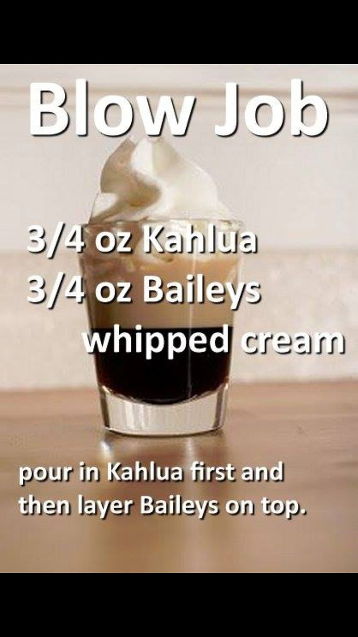 BJ ~ Kahlua, Bailey's & Whipped Cream Shot