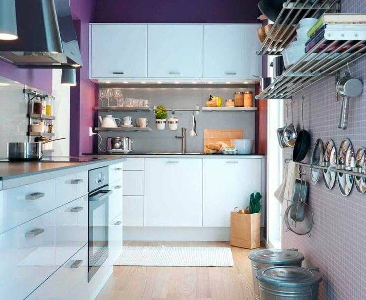 pared de color púrpura