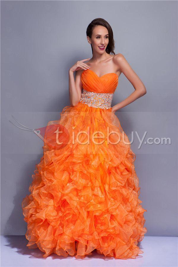 ストラップレスバックレス床長さプリーツプロム/成人式ドレス