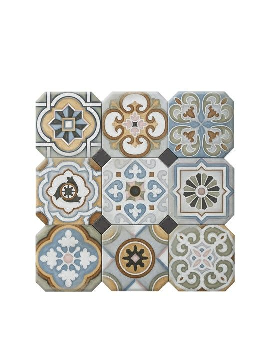 Carrelage all over aspect carreaux de ciment multicolore - Plaque imitation carrelage pour cuisine ...