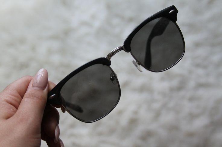 Černo šedé sluneční brýle - vinted.cz