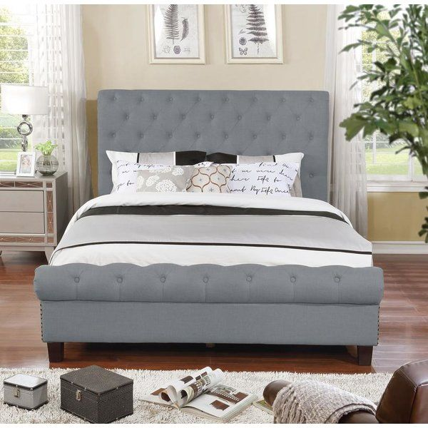 check out 86530 fce95 Caleigh Upholstered Platform Bed | home in 2019 | Platform ...