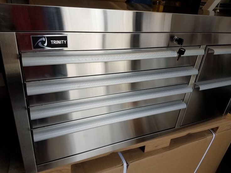 """Trinity 41"""" Stainless Steel Tool Box Top Chest Tool Box Quality Tool Box"""