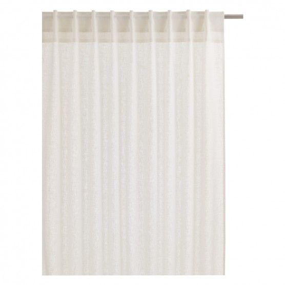 ALBANY Pair of white linen curtains 135 x 230cm | Buy now at Habitat UK