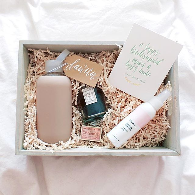 Will you be my bridesmaid gift box by Little Cat Creative