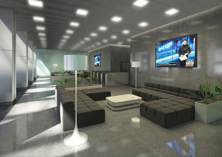 Strefa wejściowa - lobby projekt dla Oxford Tower Warszawa / Entrance area - Lobby; Project for Oxford Tower Warsaw