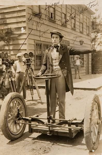 Buster Keaton rides the first Segway
