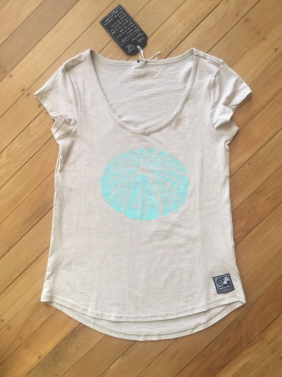 Ladies Kina T-Shirt Natural by SonjaHandcraftedTees on Etsy