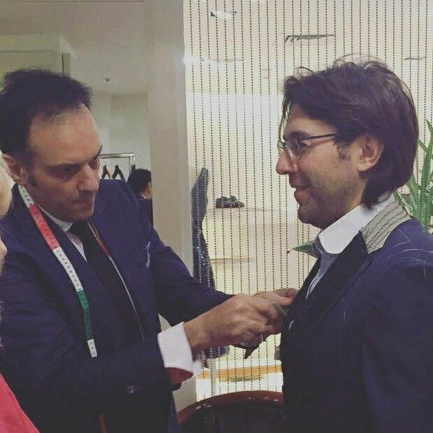 #LucaLitrico Bespoke Tailoring fitting  in #CrocusAtelierCouture for gorgeous #AndreyMalakhov #Moscow