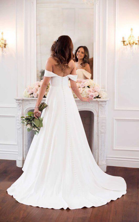 48afaf97b32113 Simple Satin Wedding Dress in 2019   So what if I'm already married??   Wedding  dresses, Sweetheart wedding dress, Stella york wedding gowns